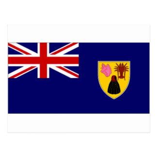 Turks Caicos Islands National Flag Postcards