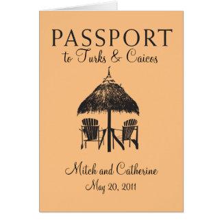 Turks & Caicos Passport Wedding Invitation