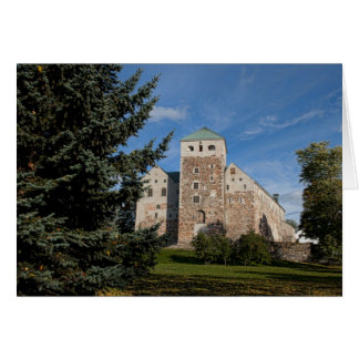 Turku, Finland, ancient Turun Linna Castle, a Card