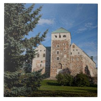 Turku, Finland, ancient Turun Linna Castle, a Tile