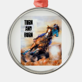 Turn and burn baby! christmas ornament