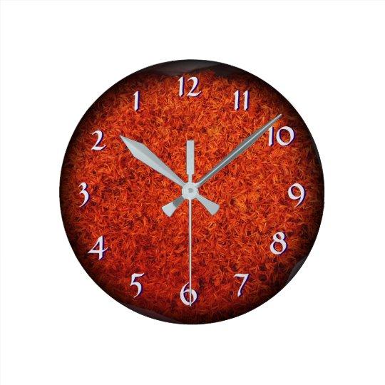 Turn Back the Time Backwards Clock-Azafran Saffron Wall