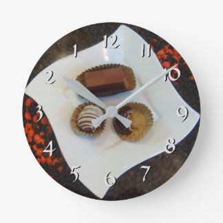 Turn Back the Time Backwards Clock-Chocolates Round Clock