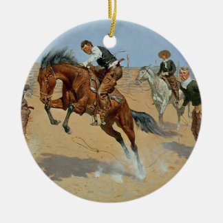 Turn Him Loose, Bill, c.1893 (oil on canvas) Round Ceramic Decoration
