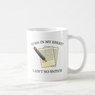 Turn In My Essay? Basic White Mug