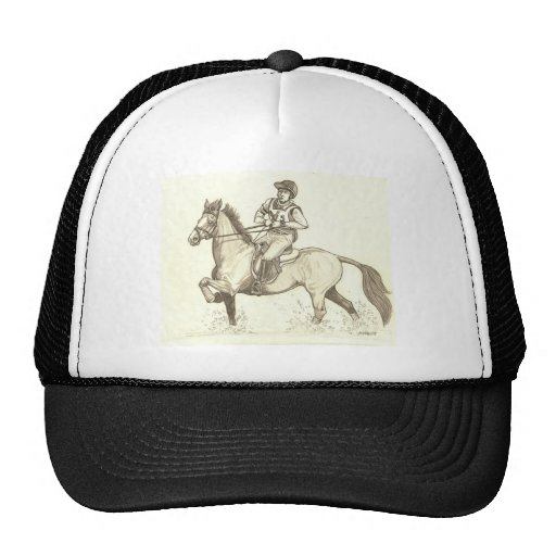 TURN IN THE WATER Eventing Horse Art Trucker Hat
