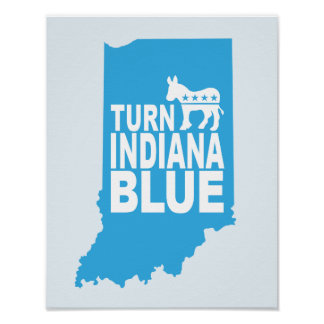 Turn Indiana Blue Progressive Art Poster