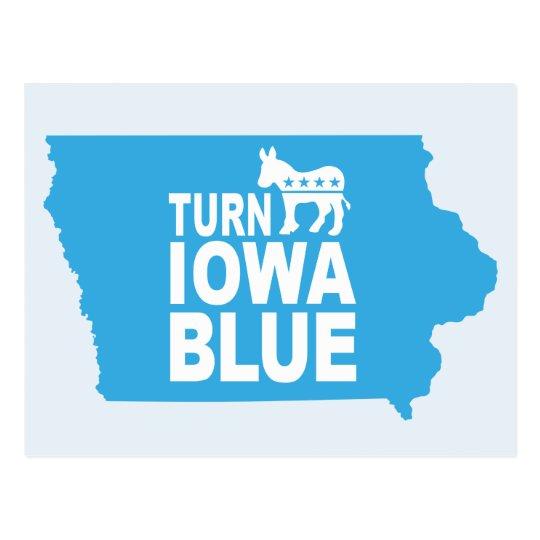 Turn Iowa Blue Postcard   Vote State Democrat