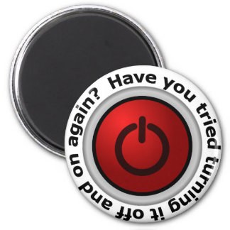 Turn It On & Off - Button Logo Refrigerator Magnet