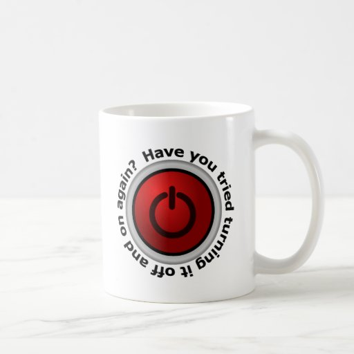 Turn It On & Off - Button Logo Mugs