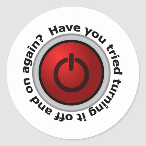 Turn It On & Off - Button Logo Stickers