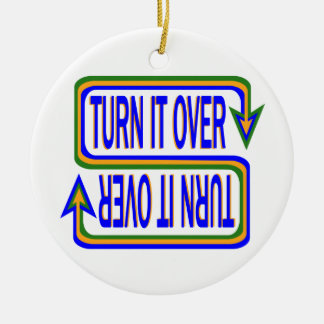 Turn it Over Christmas Ornament