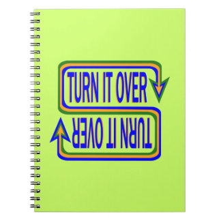 Turn it over spiral notebooks