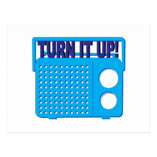 Turn it Up Post Card