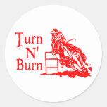 TURN N BURN CLASSIC ROUND STICKER
