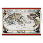 Turn of the 18th century world map greeting cards