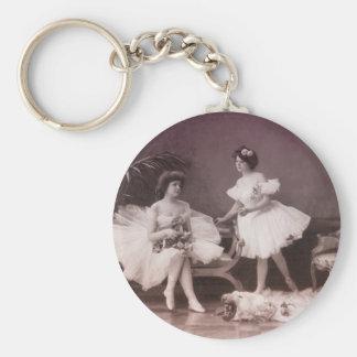 Turn of the Century Ballerinas Key Chain