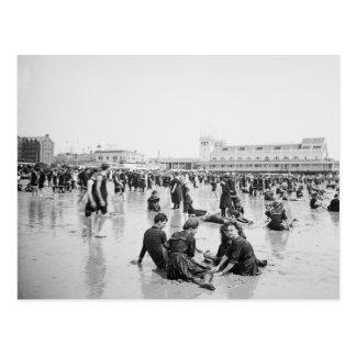 Turn of the Century beach scene Postcard