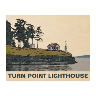 TURN POINT - Stuart Island Wood Wall Art