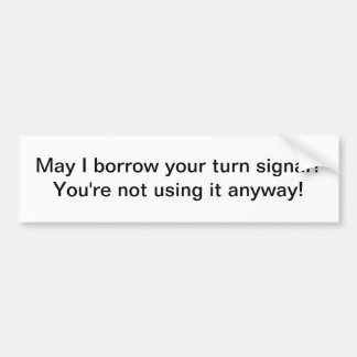 Turn signal bumper stickers