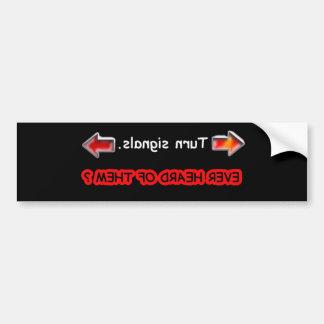 turn signals car bumper sticker