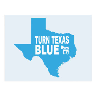Turn Texas Blue Postcard | Vote Democrat