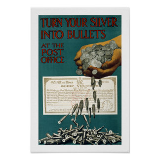 Turn Your Silver Into Bullets (border) Print