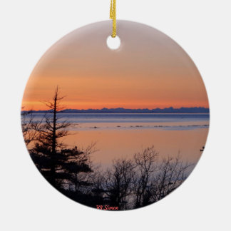 Turnagain Arm Sunset Ornament