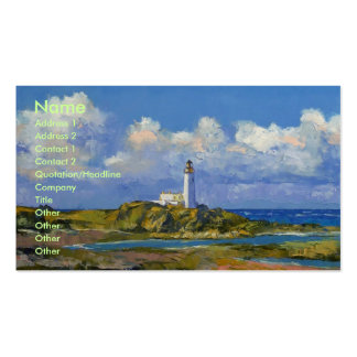 Turnberry Lighthouse Business Card Template