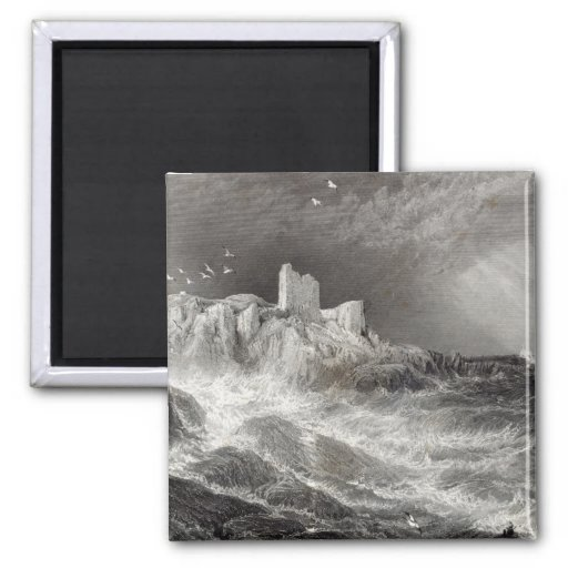 Turnbury Castle, engraved by S. Bradshaw Refrigerator Magnets