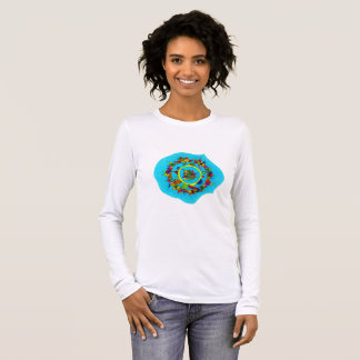 Turned houses. T-shirt long sleeve woman