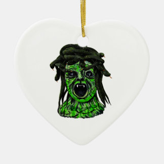 Turned to Stone Ceramic Heart Decoration