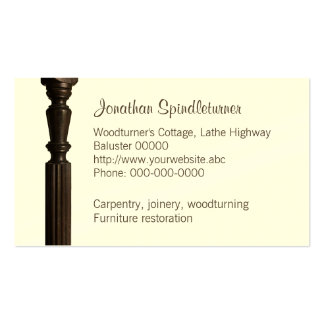 Turned wooden spindle pack of standard business cards