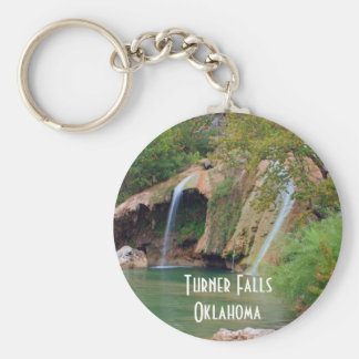 Turner Falls and Pool Basic Round Button Key Ring