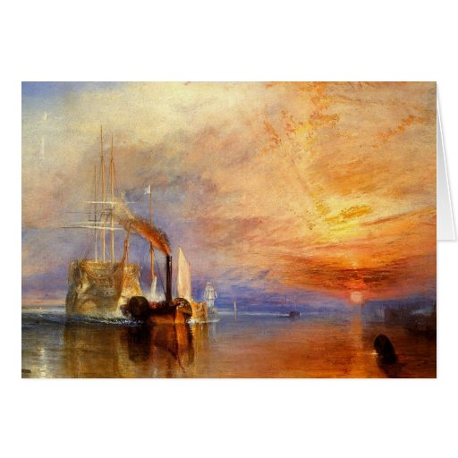 turner, j m w - the fighting téméraire tugged to h cards