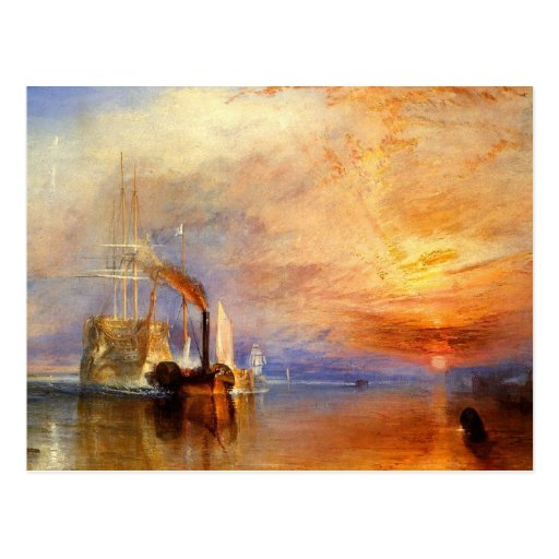 turner, j m w - the fighting téméraire tugged to h post cards