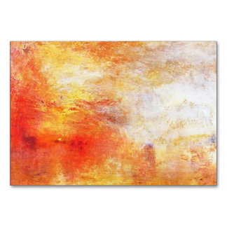 Turner Sun Setting Over A Lake Abstract Landscape Card