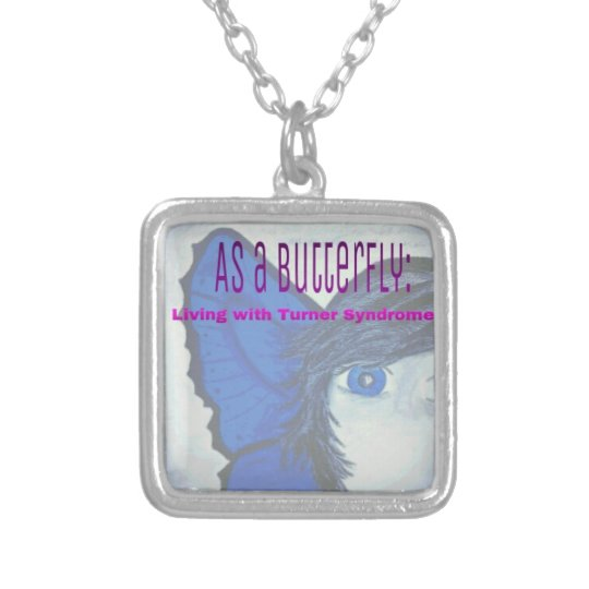Turner Syndrome butterfly necklace