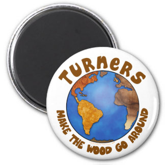 Turners Globe Funny Woodturning Earth 6 Cm Round Magnet