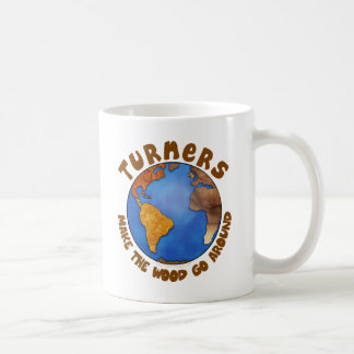 Turners Globe Funny Woodturning Earth Basic White Mug