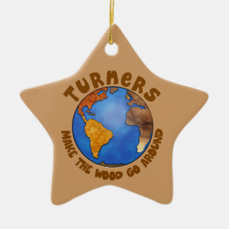Turners Globe Funny Woodturning Earth Christmas Ornament
