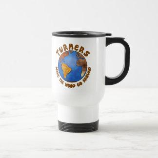 Turners Globe Funny Woodturning Earth Coffee Mugs