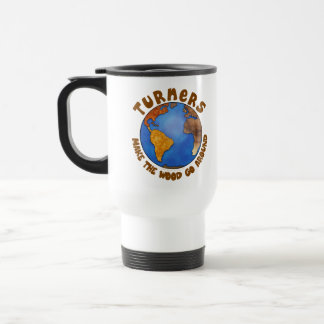 Turners Globe Funny Woodturning Earth Stainless Steel Travel Mug