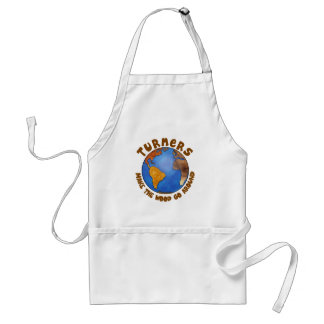 Turners Globe Funny Woodturning Earth Standard Apron