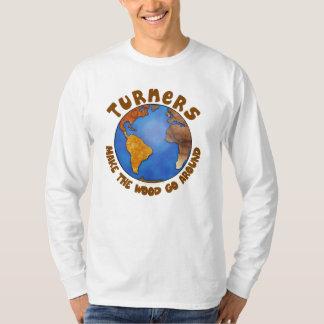 Turners Globe Funny Woodturning Earth T-Shirt