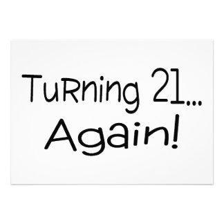 Turning 21 Again Custom Announcement