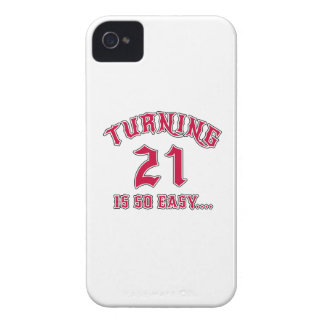 Turning 21 Is So Easy Birthday iPhone 4 Case