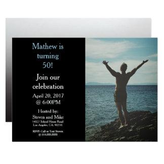 Turning 50 50th Birthday Party Photo Invitation