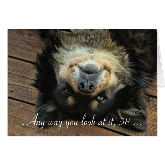 Turning 58 Happy 58th Birthday Card