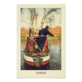 Turning around on the canal poster